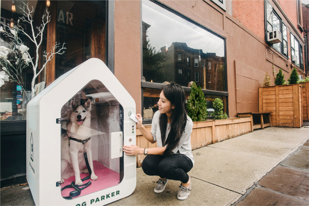 Dog Parker in Front of a Store © Dog Parker