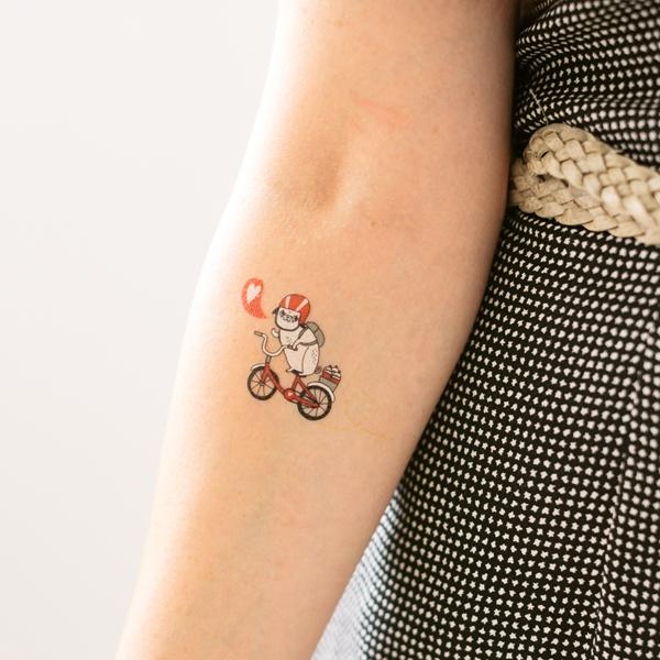 Temporary Pug Tattoo on Arm