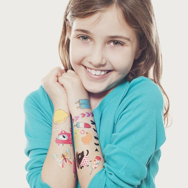 Kid with Temporary Tattoos