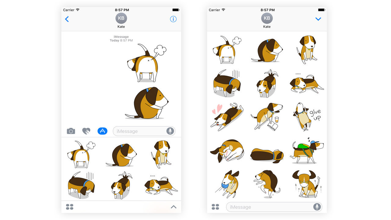 Best Dog iMessage Stickers #4 - Beagle Stickers