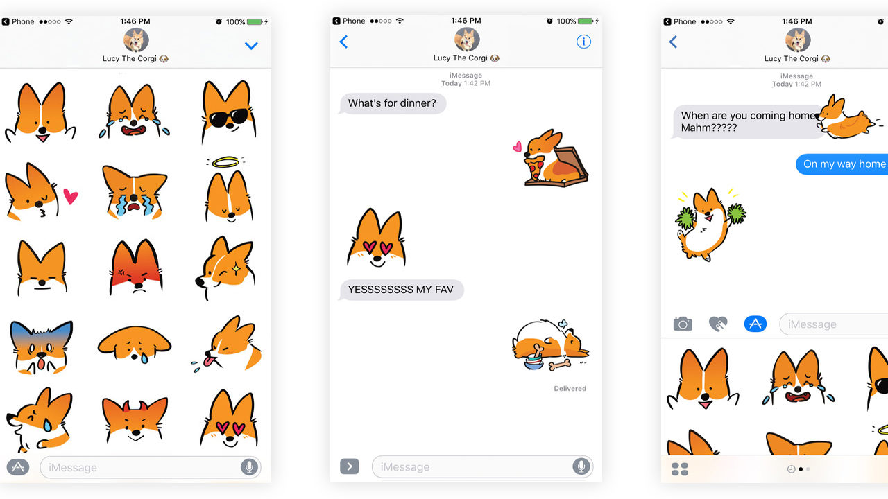 Best Dog iMessage Stickers #2 - Corgimoji