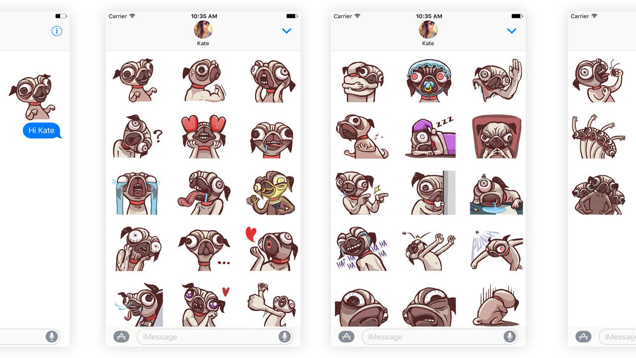 Best Dog iMessage Stickers #5 - Creepy Pug