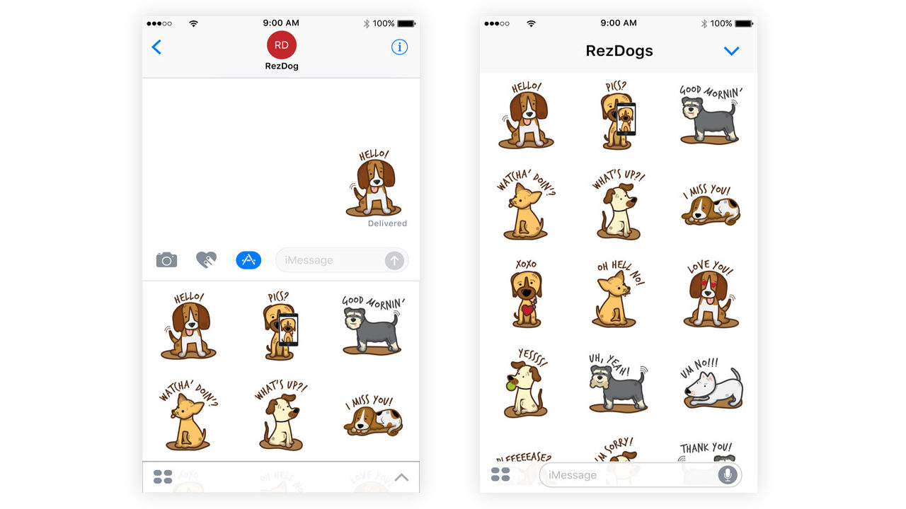 Best Dog iMessage Stickers #3 - Rez Dogs