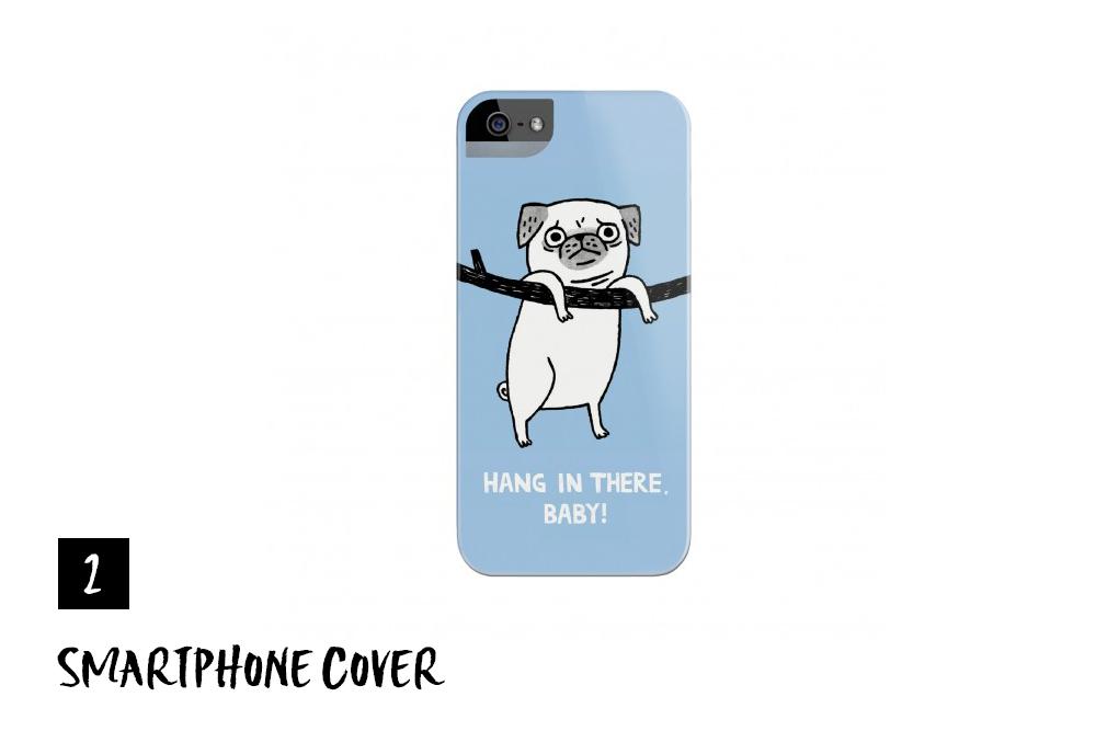 Gemma Correll – Pug Smartphone Cover