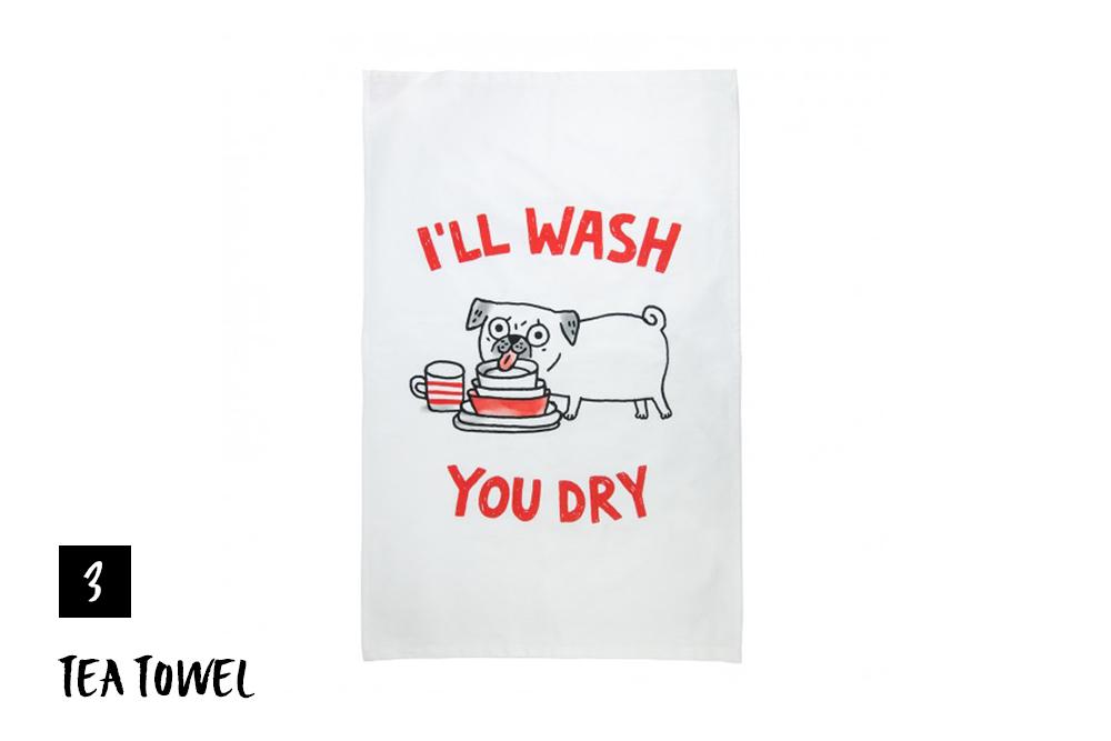 Gemma Correll – Pug Tea Towel