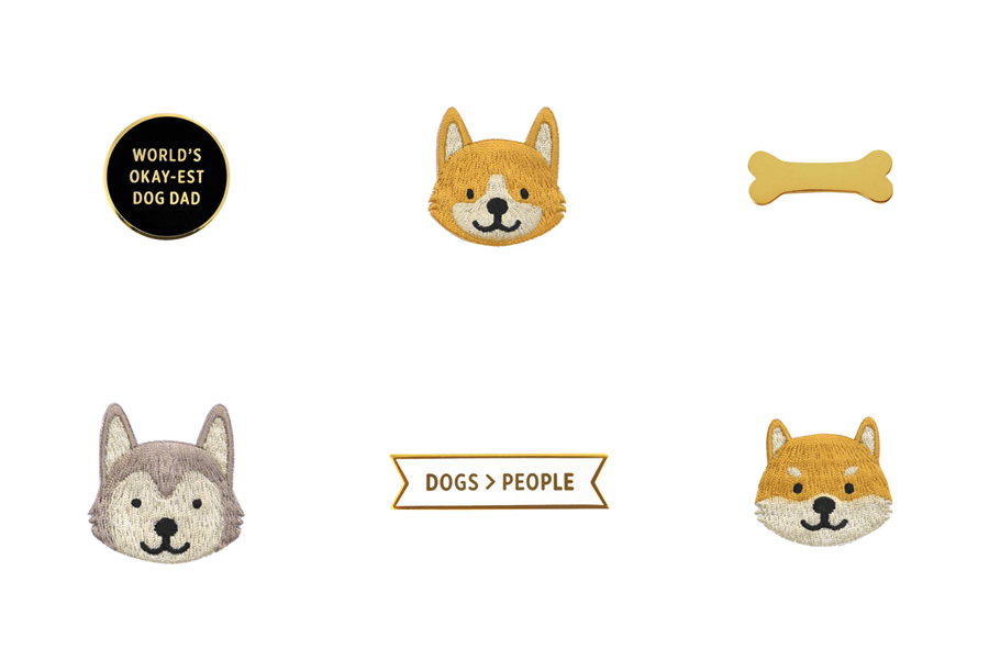 6 dog pins & patches by Fox&Bagel
