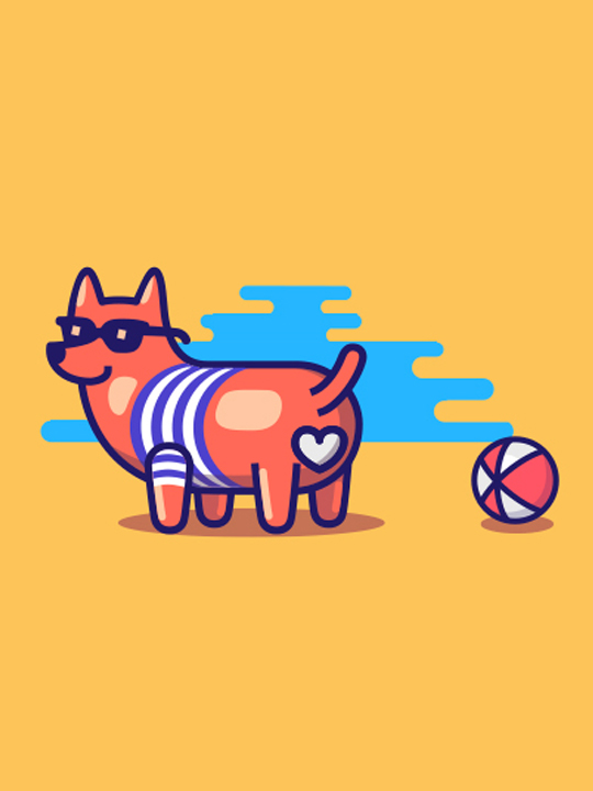 Dribbble Dog Illustrations