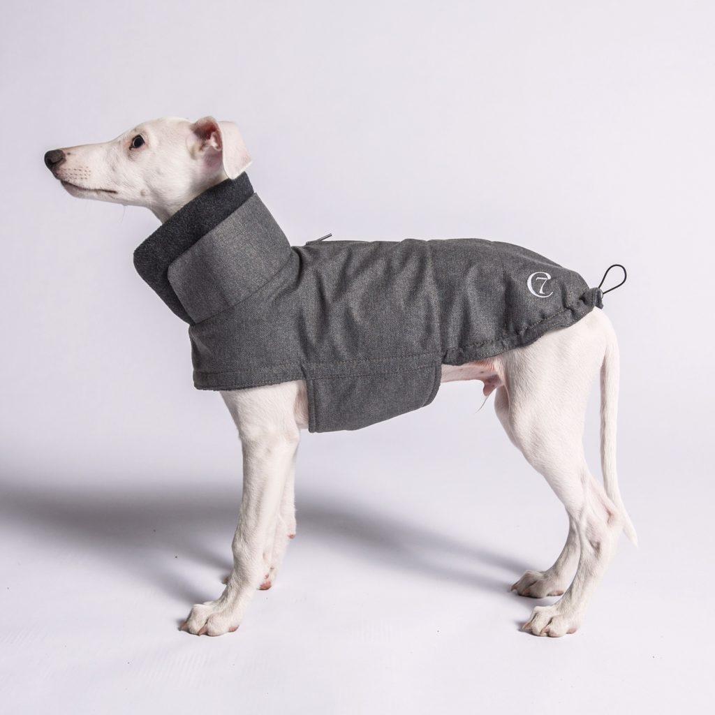 Cloud 7 Dog Coat Brooklyn Greyhound Waterproof Wool Grey