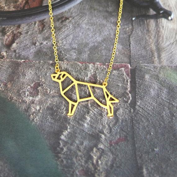 Australian Shepherd Geometric Jewellery by Glorikami