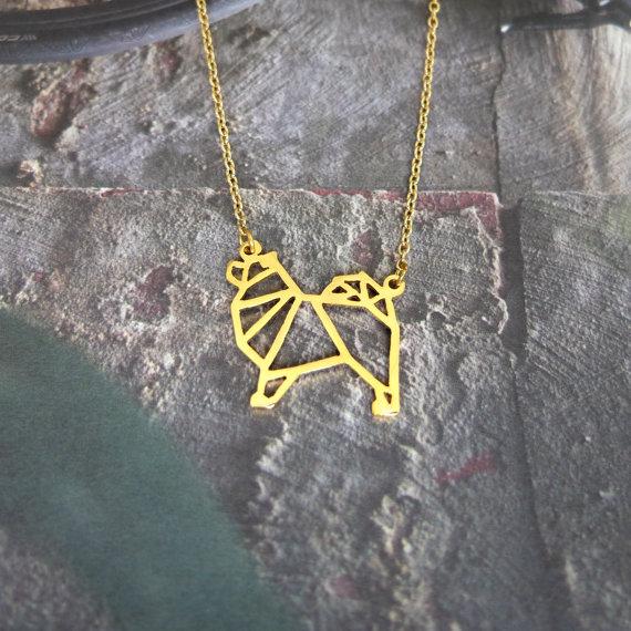 Samoyed Geometric Jewellery by Glorikami