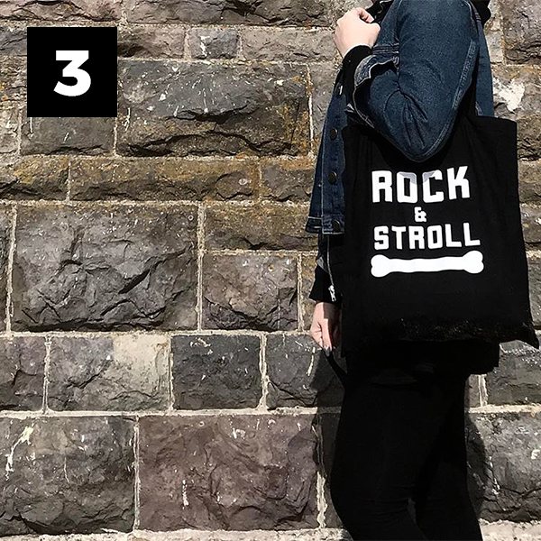 Bad to the Bone – Rock & Stroll Tote